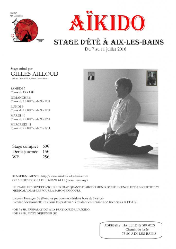 Stage d'été à Aix-les-Bains